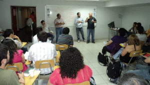 People giving a presentation